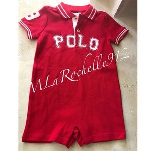NWT: Ralph Lauren Boys one piece outfit